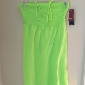 No boundaries green knit halter dress size S NWT